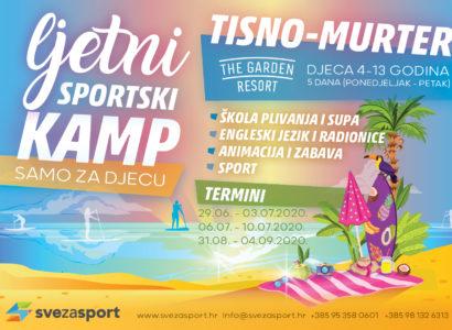 Ljetni Sportsko Rekreativni Kamp za djecu od 4 – 13 godina, Tisno